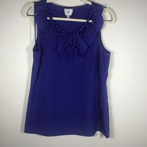 ECI Sleeveless Sheer Top with Knotted Design, 6